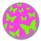Pinker Schmetterling Button