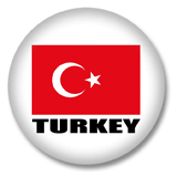 Türkei Flagge Button