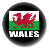 Wales Flagge Ansteckbutton