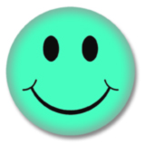 Aquamarin Smilie Button