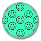 Aquamarin Smilies Button