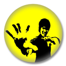 Bruce Lee Button Badge / Ansteckbutton