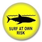 Surfing Button Badge / Ansteckbutton