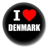I love Denmark Button
