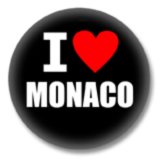 Monaco Ansteckbutton - I Love Monaco