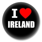 Irland Ansteckbutton — I love Ireland