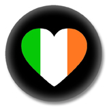 Irland Button - Flagge als Herz