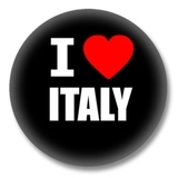 Italien Ansteckbutton — I love Italy