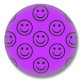 Lila Smilies Button