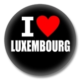 Luxemburg Ansteckbutton — I love Luxembourg