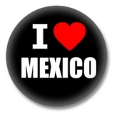Mexiko Ansteckbutton — I love Mexico