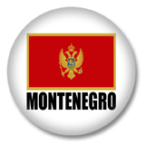 Montenegro Button - Flagge als Herz