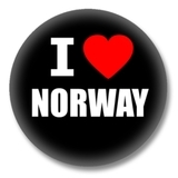 Norwegen Ansteckbutton — I love Norway