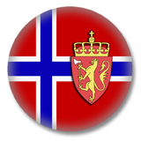 Norwegen Flagge Button