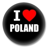 Polen Ansteckbutton — I love Poland