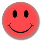 Roter Smilie Button