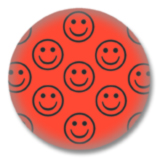 Roter Smilies Button