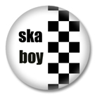 SKA Boy Button Badge / Ansteckbutton