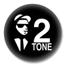2 Tone SKA Button Badge / Ansteckbutton