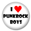 I Love Punkrock Boys - Sprüche Button Badge