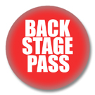 Backstage Pass - Sprüche Button Badge