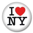 I love NY - Button Badge / Ansteckbutton
