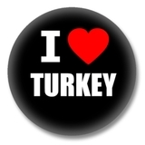 Türkei Ansteckbutton — I love Turkey