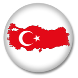 Türkei Button - Silhouette