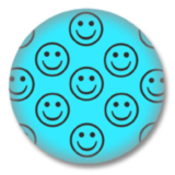 Türkiser Smilies Button