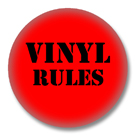 Vinyl Rules - 80er Jahre Button Badge / Ansteckbutton